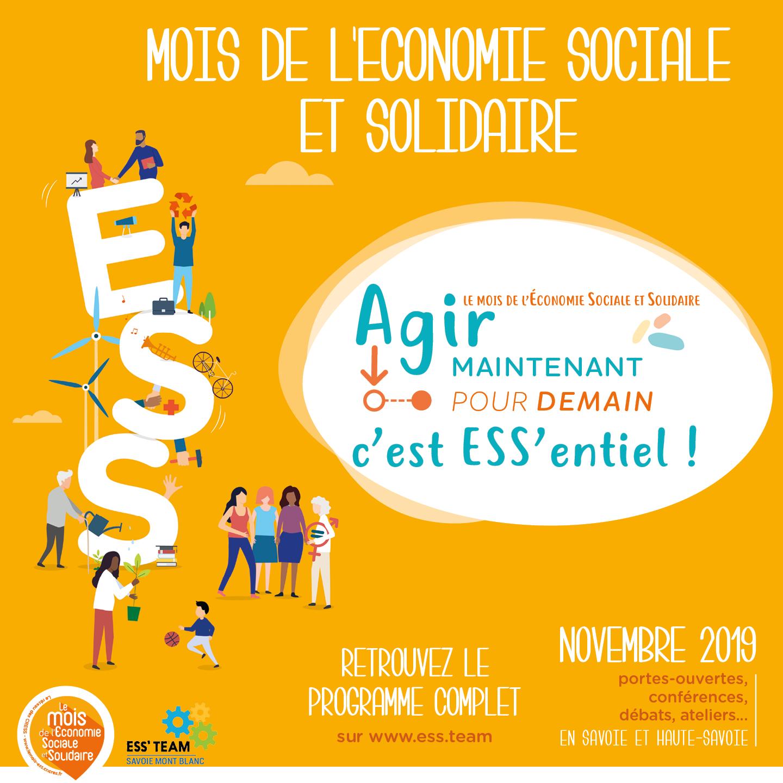 Novembre, c'est le Mois de l'Economie Sociale et Solidaire !